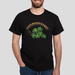 Saint Patrick's Day With Text Dark T-Shirt