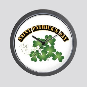 Saint Patrick's Day With Text Wall Clock