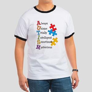 Autism Acrostic Ringer T