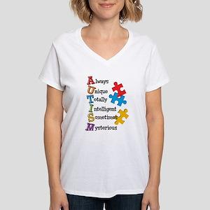Autism Acrostic Women's V-Neck T-Shirt