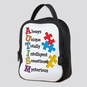 Autism Acrostic Neoprene Lunch Bag