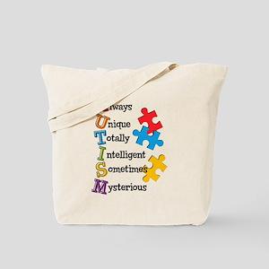 Autism Acrostic Tote Bag