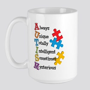 Autism Acrostic Large Mug