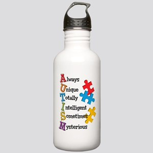 Autism Acrostic Stainless Water Bottle 1.0L