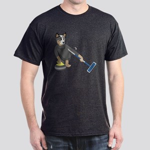 Australian Cattle Dog Curling Dark T-Shirt