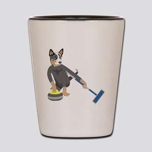 Australian Cattle Dog Curling Shot Glass