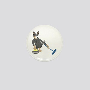 Australian Cattle Dog Curling Mini Button
