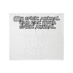 SpiritAnimalWht Throw Blanket