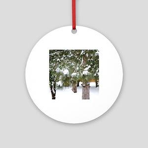 Winter trees 1 Ornament (Round)