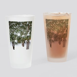 Winter trees 1 Drinking Glass