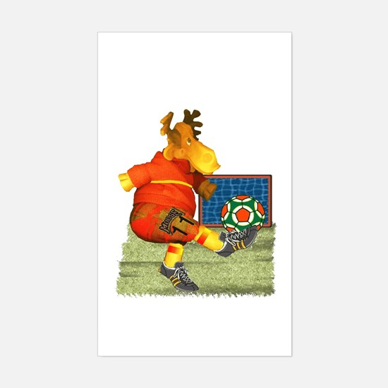 Soccer Moose Rectangle Decal