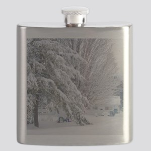 Playground in winter Flask