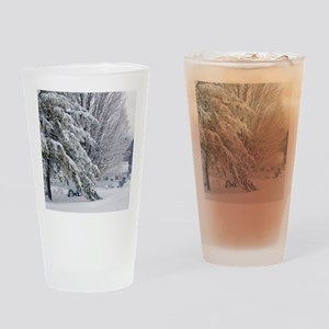 Playground in winter Drinking Glass