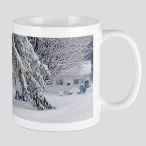 Playground in winter Mugs