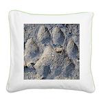 Puma Cougar Track Square Canvas Pillow