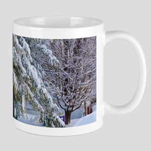 Trees with snow in winter park Mugs
