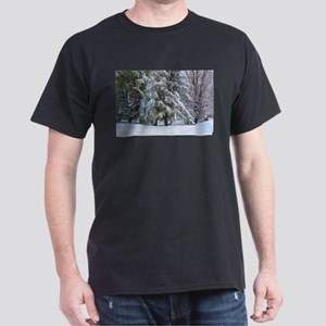 Trees with snow in winter park T-Shirt