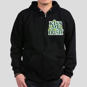 Kiss Me Im Irish Zip Hoodie
