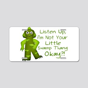 Funny Not Your Little Swamp Aluminum License Plate
