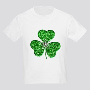 Glitter Shamrock With A Flower T-Shirt