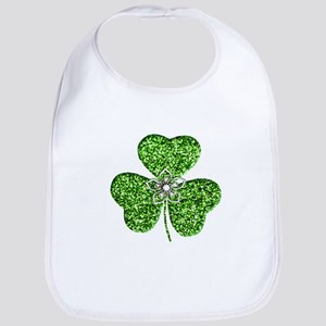 Glitter Shamrock With A Flower Bib
