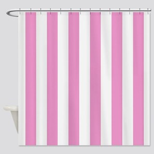 Candy Stripe Pink Shower Curtain