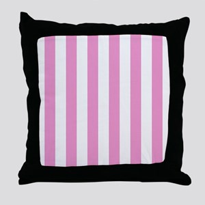 Candy Stripe Pink Throw Pillow