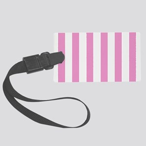 Candy Stripe Pink Luggage Tag