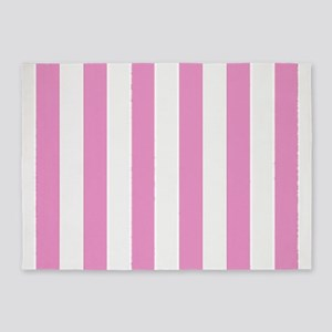 Candy Stripe Pink 5'x7'Area Rug