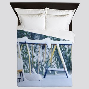 Lonely Winter Swing Queen Duvet
