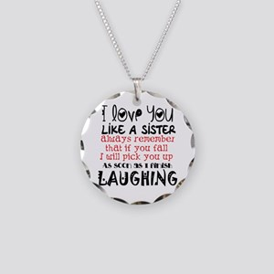 like a sis Necklace Circle Charm