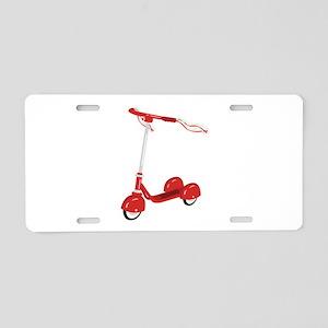 Tasseled Scooter Aluminum License Plate