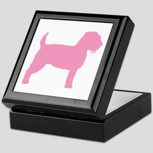 Pink Wheaten Terrier Silhouette Keepsake Box