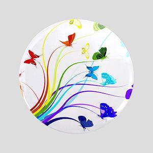 """Butterflies 3.5"""" Button"""