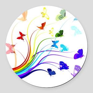 Butterflies Round Car Magnet
