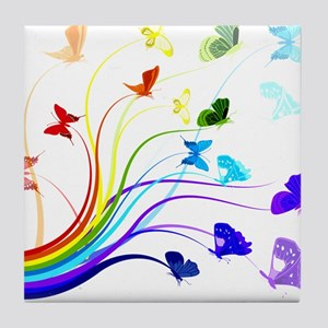 Butterflies Tile Coaster