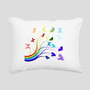 Butterflies Rectangular Canvas Pillow