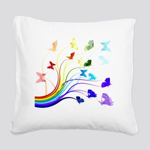 Butterflies Square Canvas Pillow