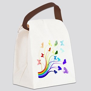 Butterflies Canvas Lunch Bag