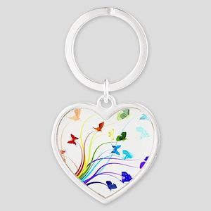 Butterflies Heart Keychain