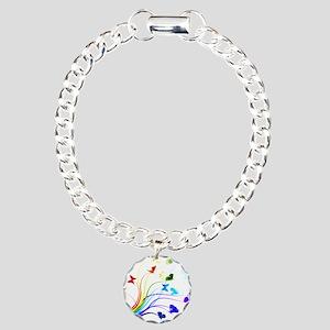 Butterflies Charm Bracelet, One Charm