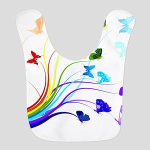 Butterflies Polyester Baby Bib