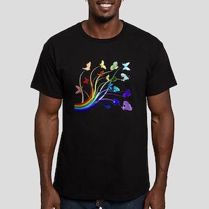 Butterflies Men's Fitted T-Shirt (dark)