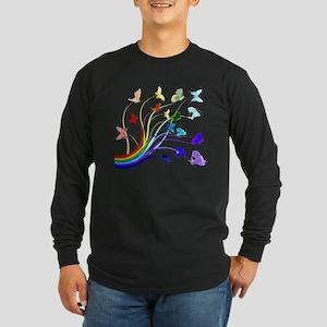 Butterflies Long Sleeve Dark T-Shirt