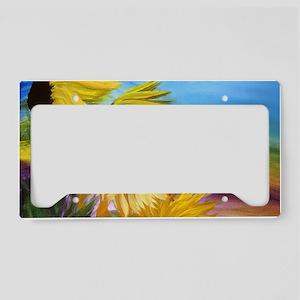 Sunflower field art License Plate Holder