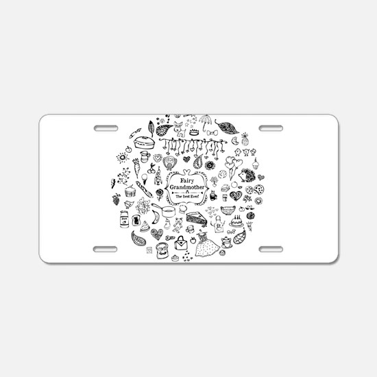 Fairy Grandmother Aluminum License Plate