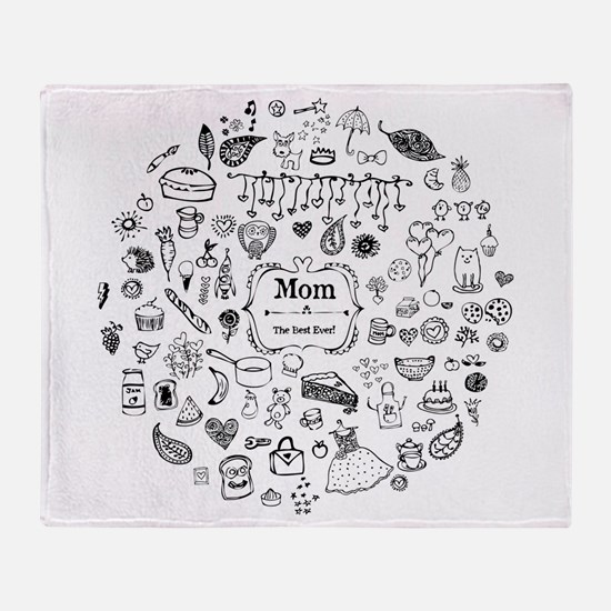 Best Mom in the World Throw Blanket