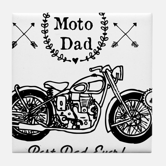 Moto Dad Tile Coaster