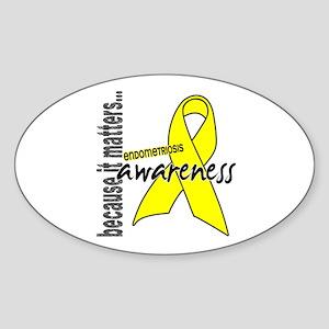 Awareness 1 Endometriosis Sticker (Oval)