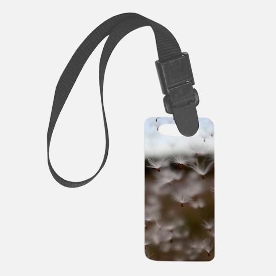 Milkweed Fluff Luggage Tag